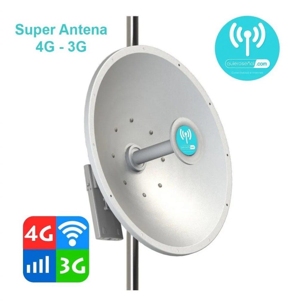 Super Antena Multibanda Lte + 4g (internet Ruralcel)